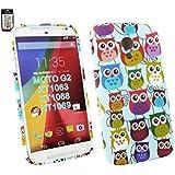 "Emartbuy® Motorola Moto G ( 2014 ) 5 "" Inch 2nd Generation / Moto G2 Dual Sim / Moto G2 Gel Skin Case Cover Owls"
