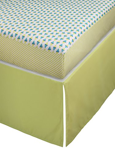 Stork Craft Pattern Play Crib Sheets And Skirt Collection, Blue/Green