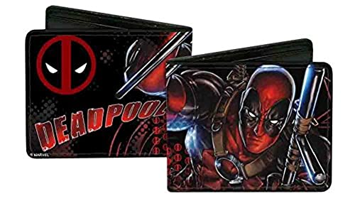 05. Deadpool Marvel Comics Antihero On Attack Bi-Fold Wallets