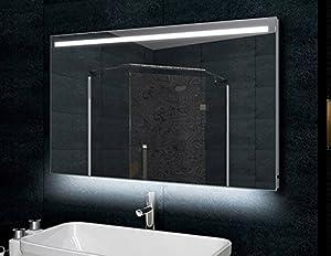 Bagno telaio in alluminio a specchio 120x60cm - Amazon illuminazione bagno ...