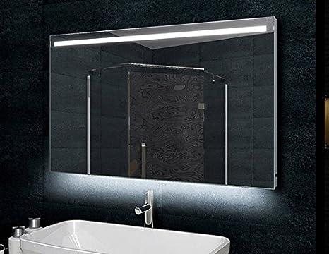 Bagno telaio in alluminio a specchio 120x60cm illuminazione a LED
