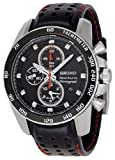 Seiko Sportura Men's Black Dial Chronograph Alarm Watch - SNAE69P2