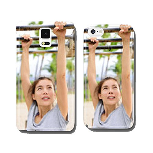 Woman training on fitness ladder monkey bars cell phone cover case Samsung S5