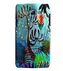 Blue Throat Jungle Cartoon Effect Printed Designer Back Cover/ Case For Samsung Galaxy J5 2016