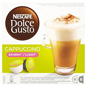 Nescafé Dolce Gusto Skinny Cappuccino 16 Capsules, 8 servings (Pack of 3, Total 48 Capsules/coffee pods, 24 Servings )