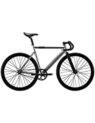 State Bicycle 6061 Black Label Fixed Gear Bike - Silver, 57 cm