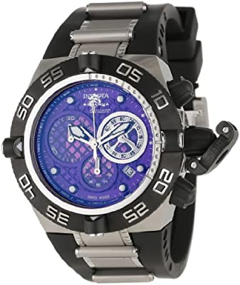 Invicta Men's 11510 Subaqua Noma IV Chronograph Purple Dial Black Polyurethane Watch