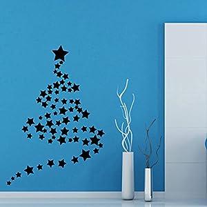 Wall decor vinyl decal sticker christmas tree for Christmas wall art amazon