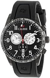 Calibre Men's SC-4R4-13-007 Recruit Analog Swiss Quartz Black Rubber Watch