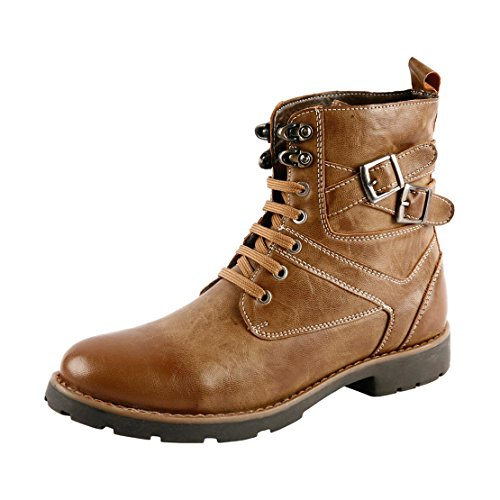 Bacca Bucci Men's Ps-1030 Tan Leather Boots - 10 UK