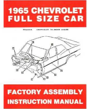 1965 Chevrolet Belaire Biscayne Impala Assembly Manual Book Rebuild Instructions
