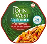 John West Light Lunch Mediterranean Style Tuna Salad 240 G (Pack of 6)