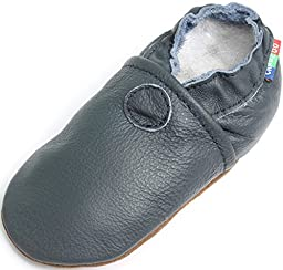 Carozoo baby boy soft sole leather infant toddler kids shoes Sailboat Blue 3-4y