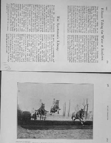 1905 Photograph Elliman Water Jump Sandown Horse Sport