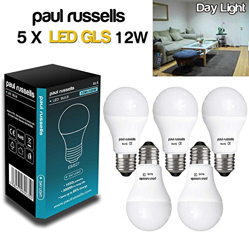 5-pack-12w-gls-led-light-bulb-e27-es-edison-screw-cap-paul-russells-very-bright-12w-100w-day-light