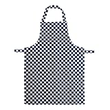 Rudham Aprons Cotton Checkered 2 Pieces ( Navyblue White )