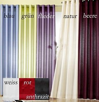 gardinen modern vorhang mit sen farbe anthrazit h he 245cm x. Black Bedroom Furniture Sets. Home Design Ideas