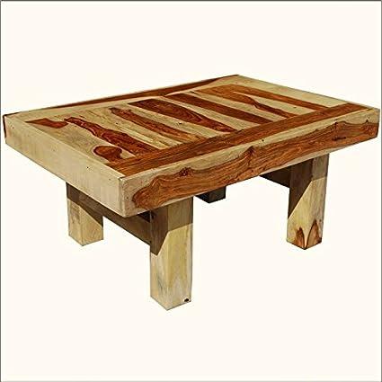 Bold & Blocky Indian Rosewood Safari Coffee Table