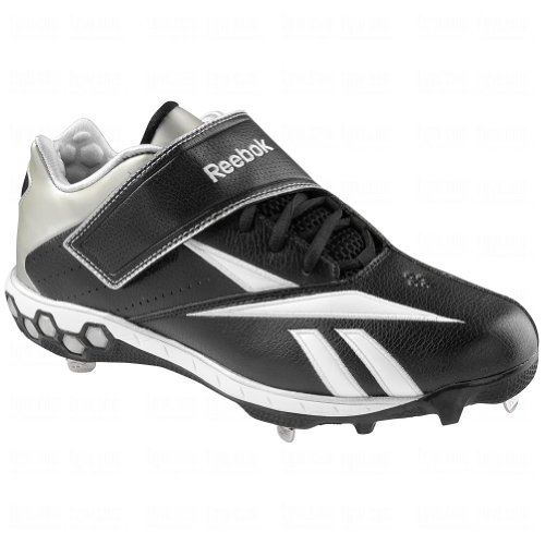 pictures of Reebok Mens Brushback Low Hex Metal Cleats 13 Us
