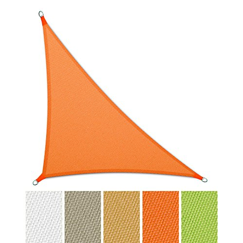 casa pura® Sonnensegel wasserabweisend imprägniert | Dreieck | UV Schutz