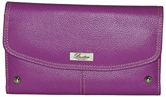 Buxton Westcott Checkbook Clutch Wallet One Size Electric purple