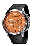 Emporio Armani Gents Chronograph Black Rubber Strap Watch :  emporio armani watches emporio armani gents chronograph black rubber strap watch emporio watch