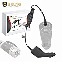 ZAP Light Charger Stun Gun Flashlight Car Charger. Direct Fit Cigarette & DC Accessory Power Cord For PS Products Self Defense Weapon Taser Flashlights. Fits ZAP® ZAPL, ZAPLE, ZAPLDAZ & RUGARFLASH