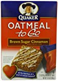 Quaker Oatmeal To Go, Brown Sugar Cinnamon Breakfast Bars, 6-Count, 12.6 oz Boxes, (Pack of 6)