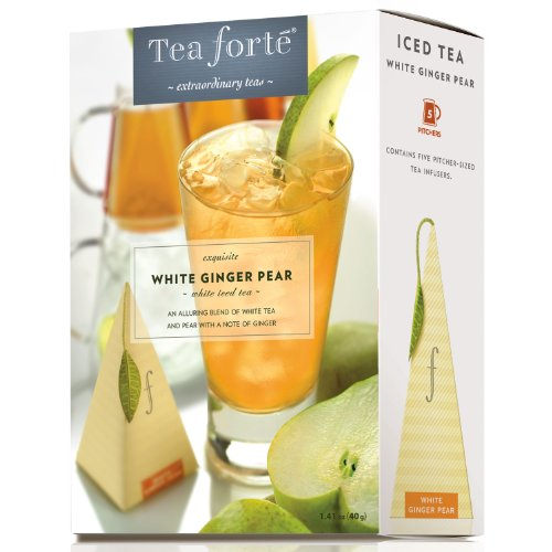 White Ginger Pear by Tea Forte - Five Iced Teas