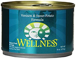 Wellness Complete Health Natural Wet Canned Dog Food, Venison and Sweet Potato Recipe, 6-Ounce Can (Pack of 24)