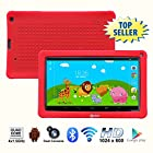Contixo 9 Inch Quad Core Android 4.4 Kids Tablet, HD Display 1024x600, 1GB RAM, 8GB Storage, Dual Cameras, Wi-Fi, Bluetooth 4.0, Kids Place App & Google Play Store Pre-installed, 2015 May Edition, Kid-Proof Case (Red)