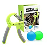 Hand Grip Strengthener - Two Therapy Squeeze Balls - Best for Finger, Forearm, Massage & Rock Climbing - 100% Life Time Guarantee - Free Exercise Guide