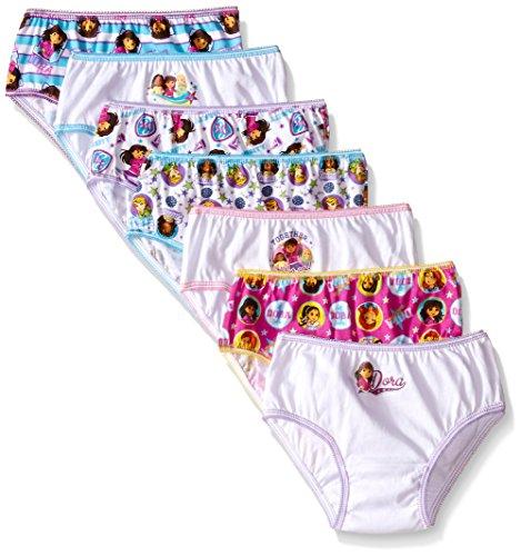 Nickelodeon Little Girls'  Nick Dora  Underwear (Pack of 7), Multi, 6