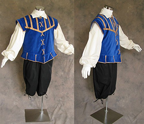 Artemisia Designs Men'S Renaissance Doublet Costume Game Of Thrones Royal Blue 3X