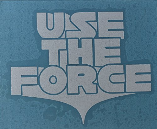 Licenses Products Star Wars Use the Force Rub-On Sticker, White - 1