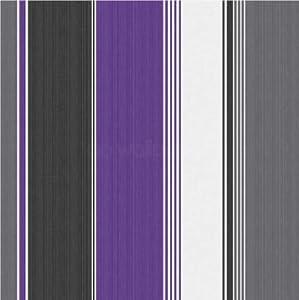 Hemingway purple grey black stripe wallpaper 30293 amazon for Purple kitchen wallpaper