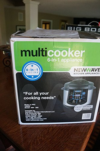 New Wave 6-In-1 Electric Multi-Cooker Stainless Steel And Black