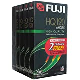 Fuji VHS Videocassettes, Bonus 5 Pack (4 HQ 120 And 1 HQ 160)