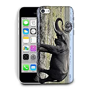 Snoogg Elephant Walking Printed Protective Phone Back Case Cover For Apple Iphone 5C