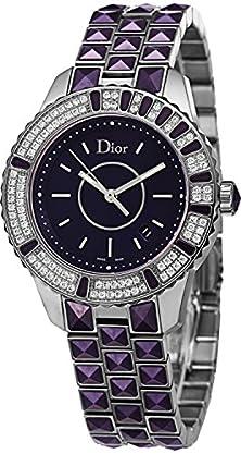 buy Christian Dior Women'S Cd11311Jm001 Christal Purple Dial Diamond Watch