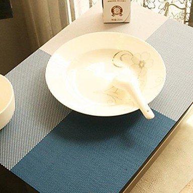 TTOMI Multi-couleur simple modelée par place Mat table pour le dîner, L45cm x 30cm W, chaleur PVC résistant , Striped-30cm x 45cm