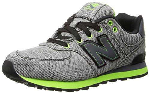 New Balance Kl574 Grade Glitch Running Shoe (Big Kid),Black/Green,6.5 M Us Big Kid