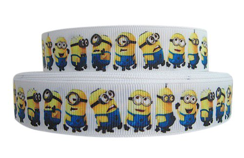 "Pimp My Shoes - Nastro grosgrain per torte, pacchi regalo e decorazioni, motivo Minion da ""Cattivissimo me"", dimensioni: 2 m x 22 mm"