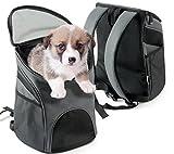 wan nyan paradise 犬 猫 ペット 用 リュック キャリー バッグ おでかけ (35×30×23cm, グレー)
