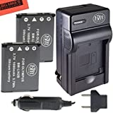 BM Premium 2-Pack Of LI-42B Batteries And Battery Charger for Olympus Stylus 1040 1050w 1060 1070 1200 7000 7010 7020 7030 7040 Tough 3000 TG-310 TG-320 VR310 VR320 VR330 Digital Camera + More!!