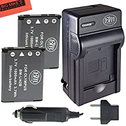 Pack Of 2 LI-42B Batteries And Battery Charger for Select Olympus Models