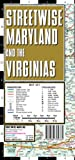 Streetwise Maryland & the Virginias Laminated State Road Map