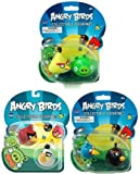 Angry Birds Figurine Figure Set 3 2 Pack Green Pig Yellow Red Blue Black White Birds