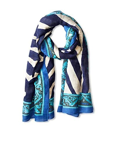 Theodora & Callum Women's Botswana Tie All Scarf, Blue