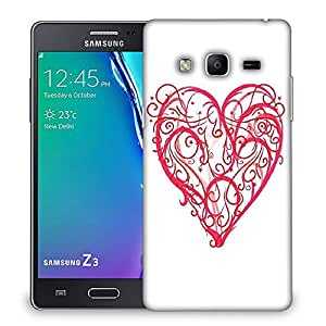 Snoogg abstract heart vector Designer Protective Back Case Cover For Samsung Galaxy Tizen T3